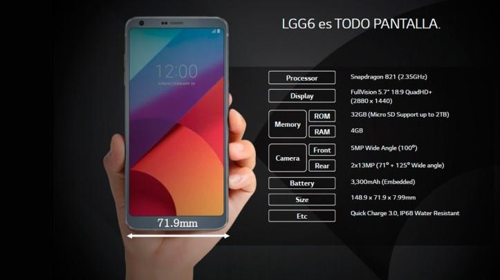 Especificaciones LG G6