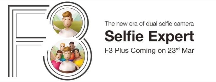 Oppo F3 presentación el 23 de Marzo