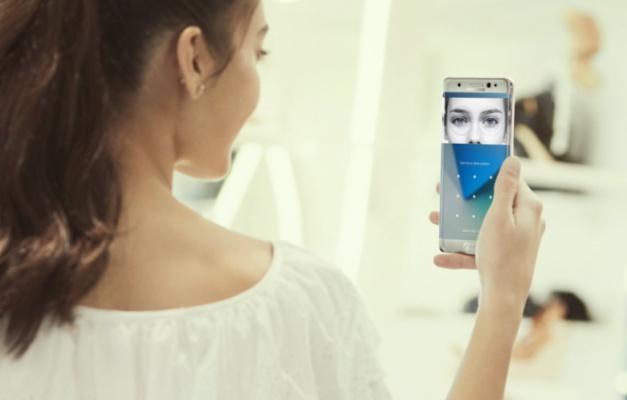 Lector de iris y reconocimiento facial de Samsung