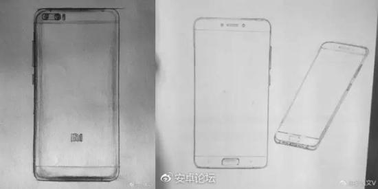 Bocetos del Xiaomi Mi6 Plus